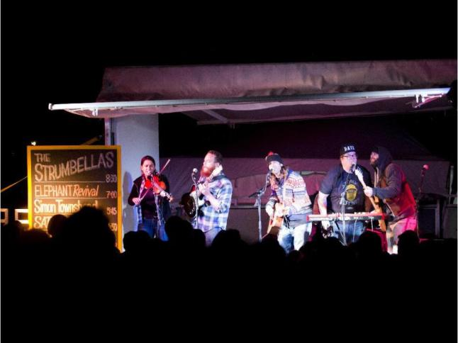The Strumbellas at Ottawa Folk Fest 2014. I'm one of the heads near the front!