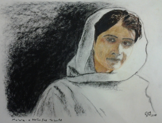Portrait of Malala Yousafzai