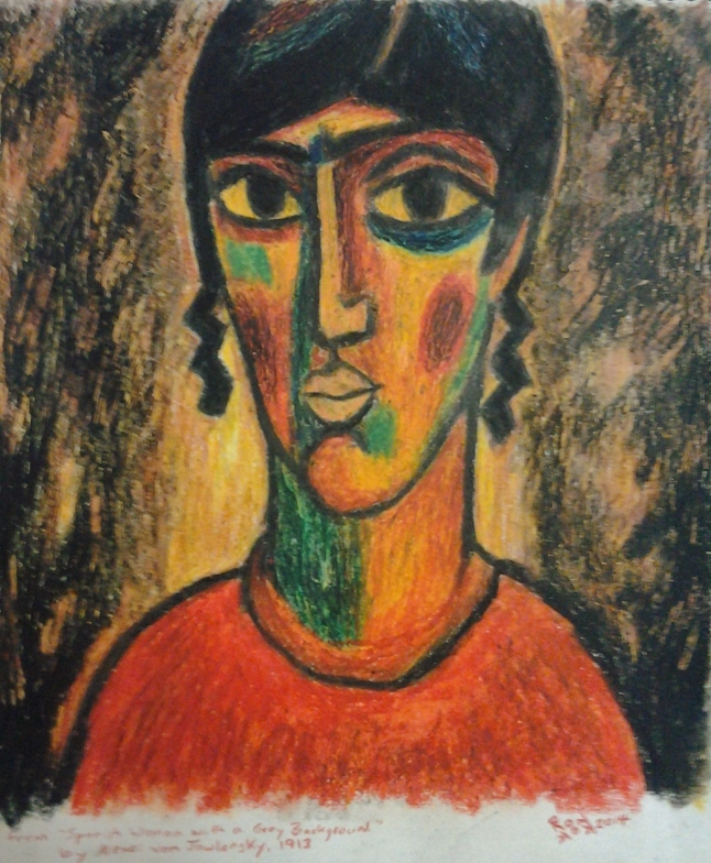 Re-Creation of Jawlinsky, Spanish Woman