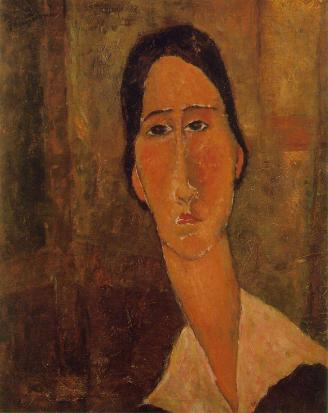 Amedeo Modigliani, Jeanne Hebuterne with White Collar, 1919