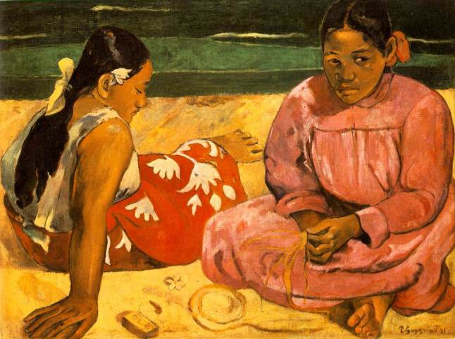 1891-PaulGauguin-Femmes_de_Tahiti_Sur_la_plage-Tahitian_Women_On_the_Beach