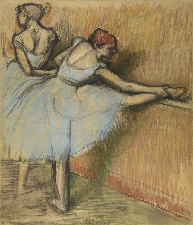 2-degas_dancers-at-the-barre_pastel