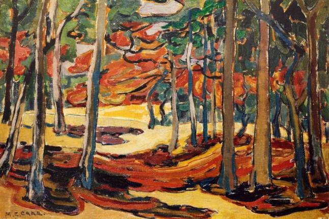 carr-emily-canvas-autumn-woods 1911
