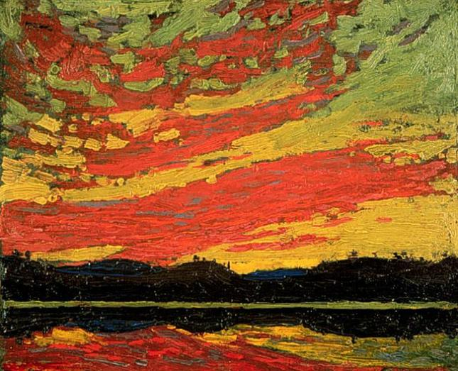 Thomson Sunset 1915