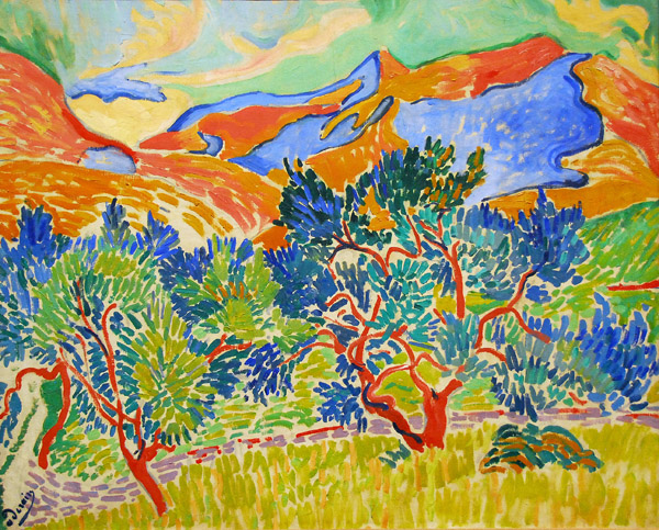 andre derain mountains at Collioure 1905