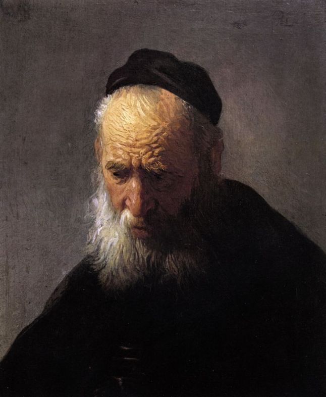 Head of an Old Man in a Cap *oil on panel  *24.3 x 20.3 cm  *ca. 1630