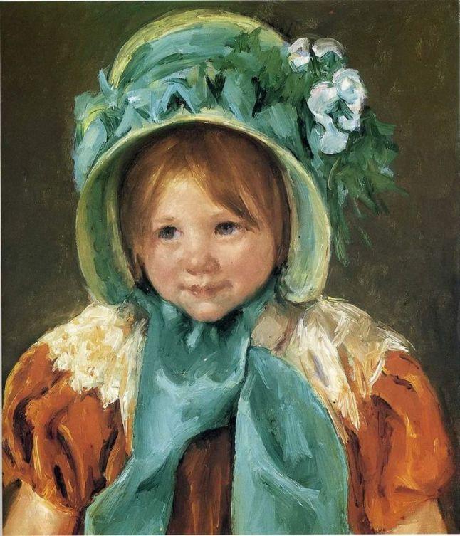 Sarah in Green Bonnet Mary Cassatt 1901
