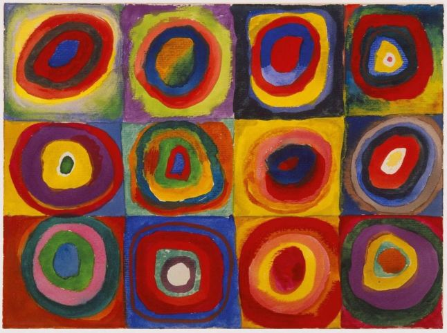 wassily kandisky, color study squares with concentric circles 1913
